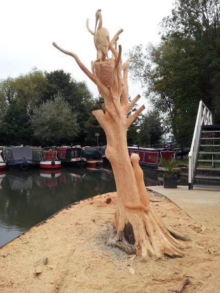 Greenham lock Marina sculpture, Leyland Cypress