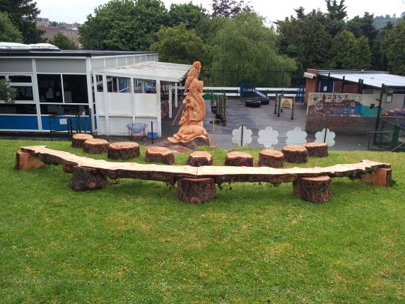 Story Telling chair, Larch, Rosary school.