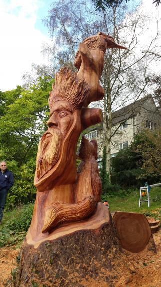 Sculpture, Larch, Gloucestershire