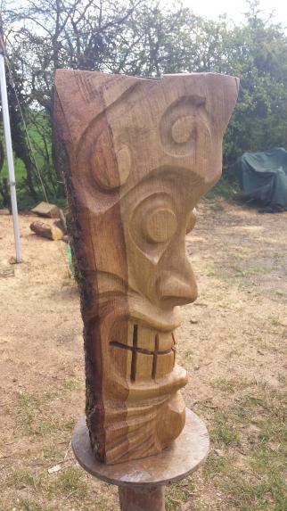Tiki Head, Oak