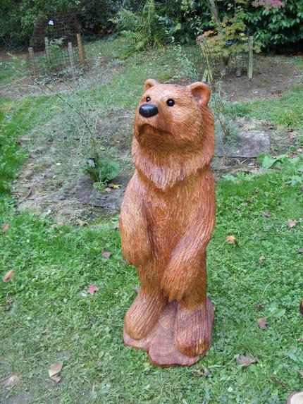 Bear, Western Red Cedar.