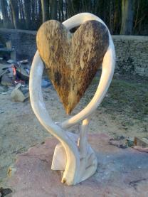 'Heartwood', Spalted beech heart in a beach frame.
