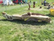 Dragon Bench, Oak
