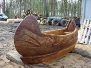 'Dug Out Canoe', Oak, Hampton Court Park, London.
